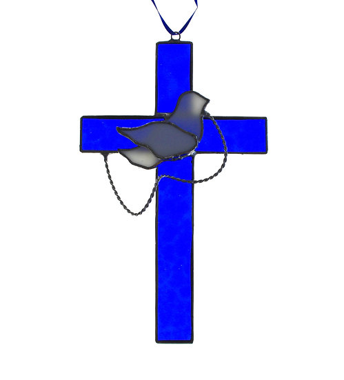 Blue Cross with Dove