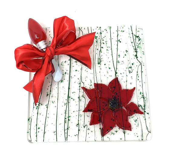 Poinsettia Small Anything Platter