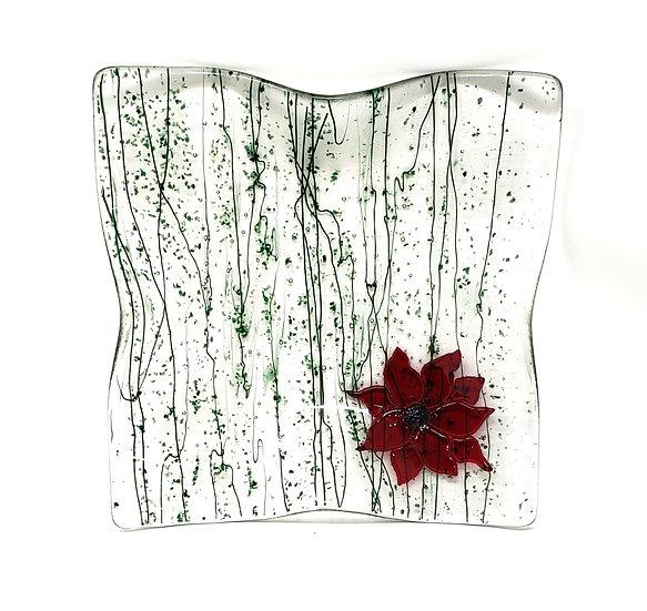 Poinsettia Wave Bowl