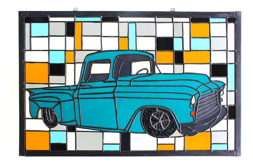 56' Stained Glass Muscle Truck