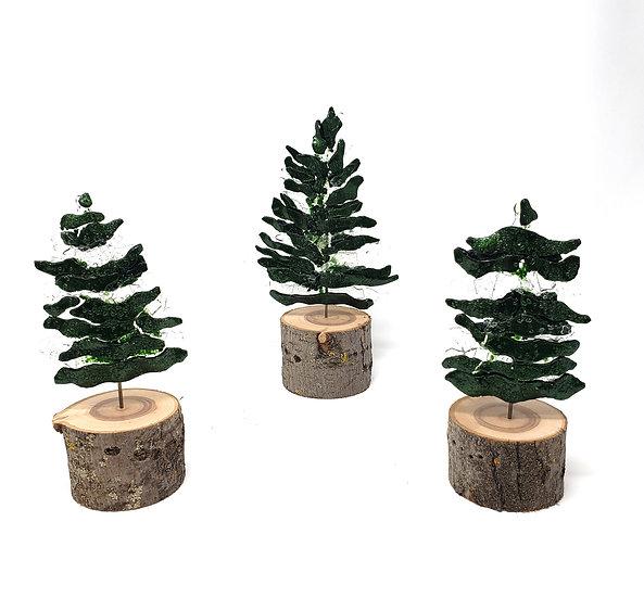 Pine Haven Set of Three Fused Trees