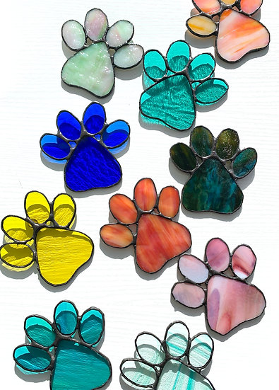 Stained Glass Dog Paws