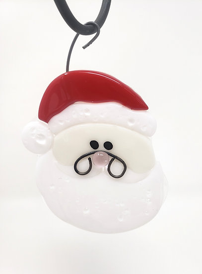 Fused Santa Christmas Ornament