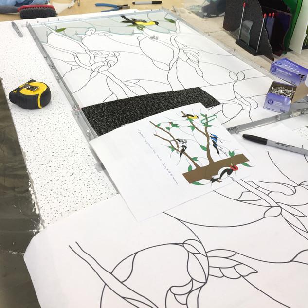 Custom Bird Working Drawing Photo