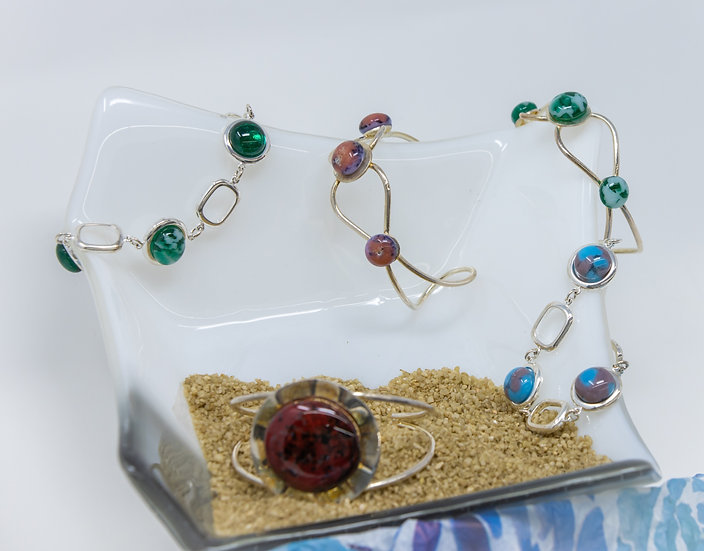 Glass Droplet Bracelets