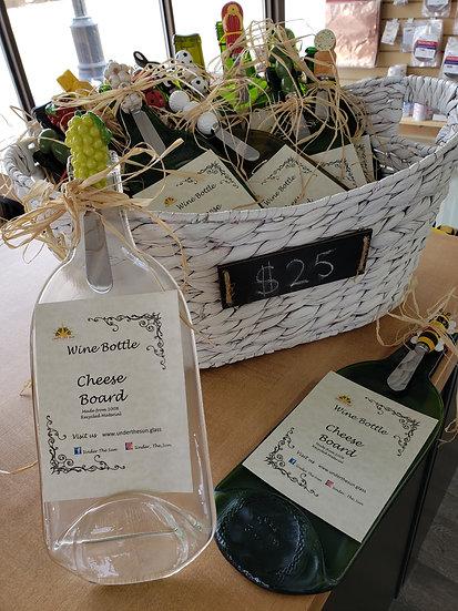 Wine Bottle Cheese Boards