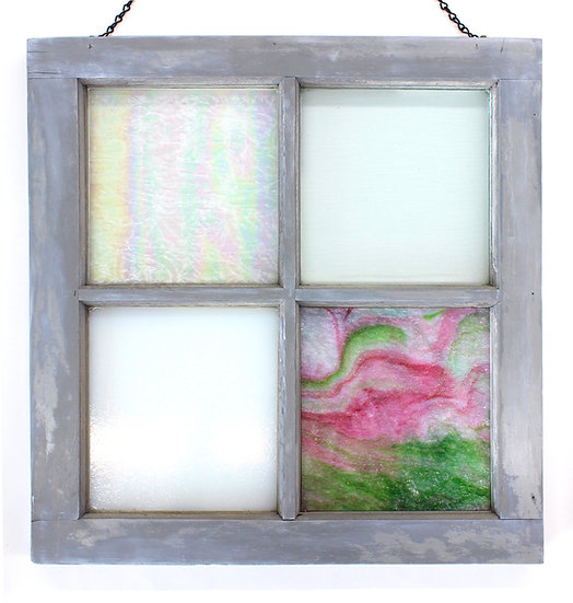 Barn Window with Glass Panels