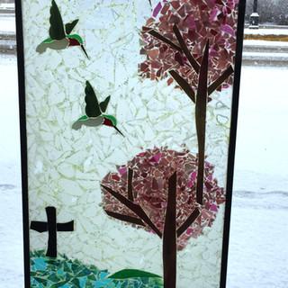 Custom Cold Fusion Cherry Blossom & Hummingbirds