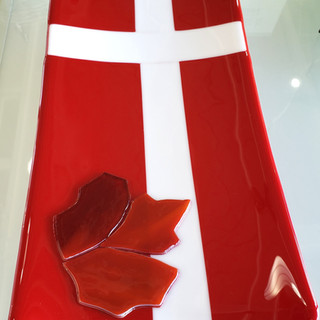 Custom Danish Flag Platter