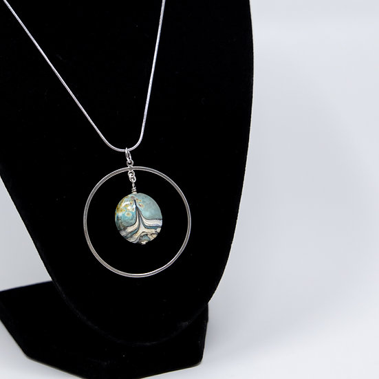 Sterling Silver Hooped Necklace