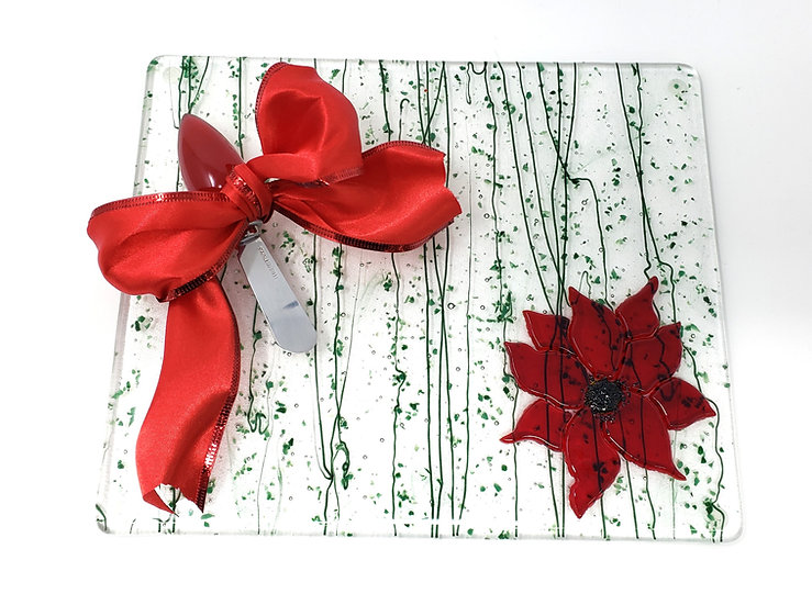 Poinsettia Anything Platter