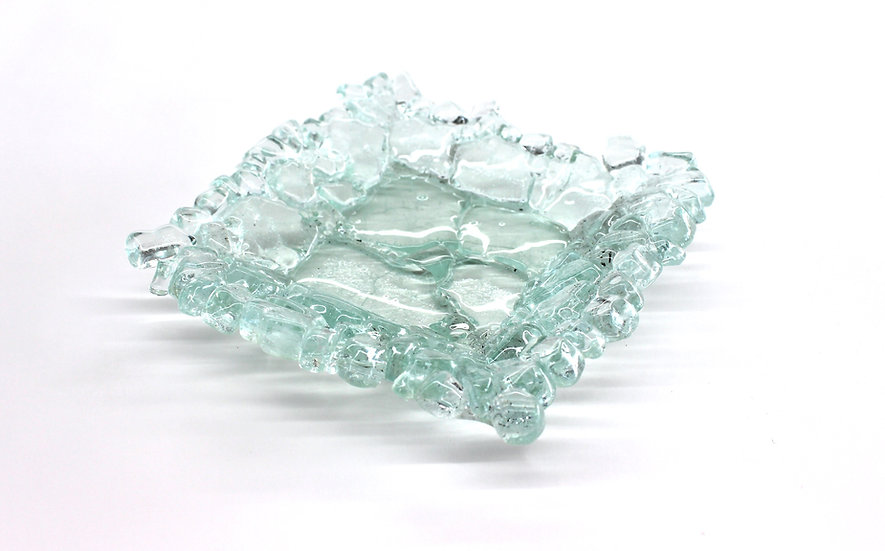 Shatter Glass Small Side Dish