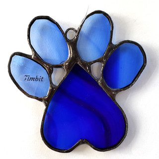 Custom Paw Print Blue Photo 1