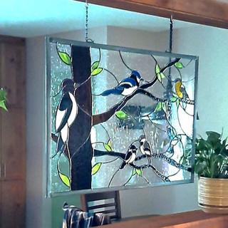 Installed Custom Bird Working Room Divid