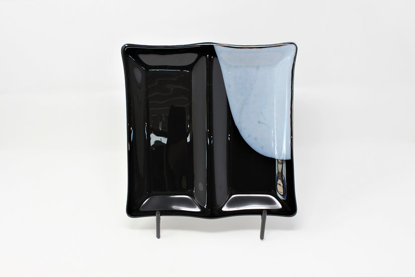 Sleek Black 2 Tray Server