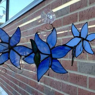 Custom Blue Flower Design Photo 2