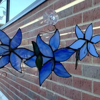 Custom Blue Flower Design Photo 2