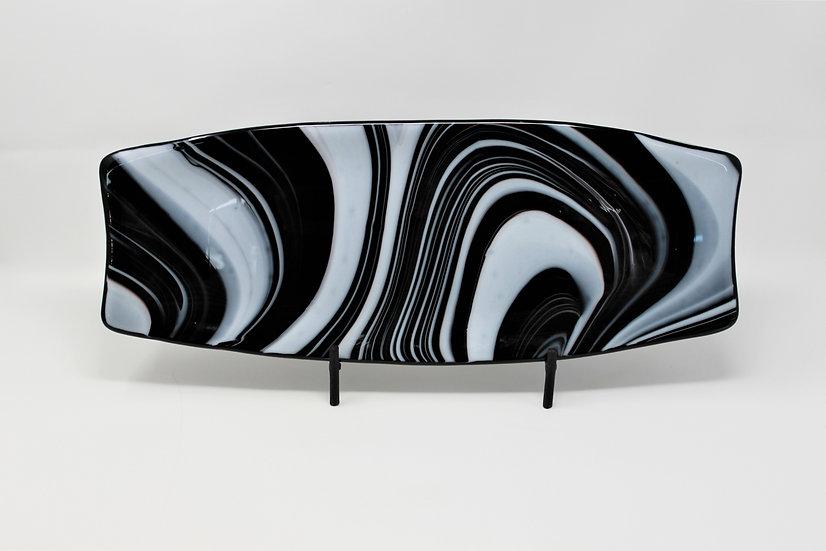 Black & White Bread Platter