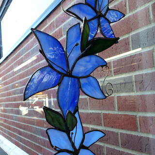 Custom Blue Flower Design Photo 1