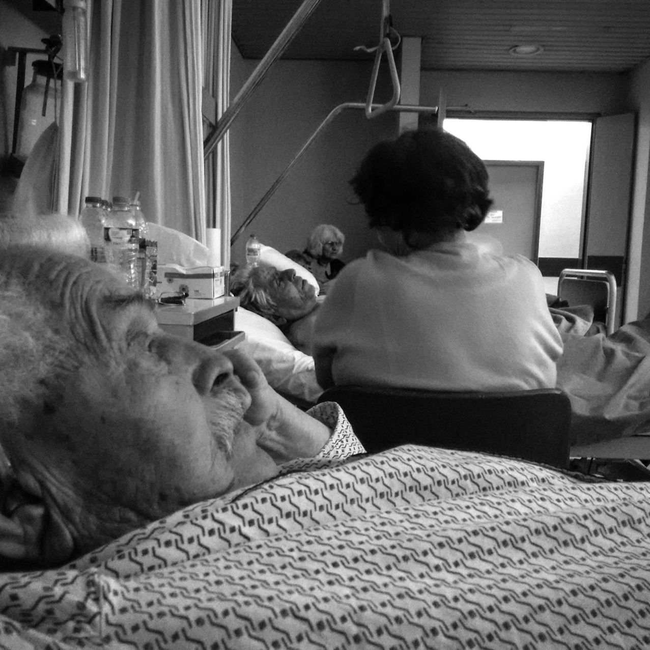 Too many things to remember... How many things to hope?! When you are 93 years and you are lying down on bed in a hospital. I feel that he still has his motives for life