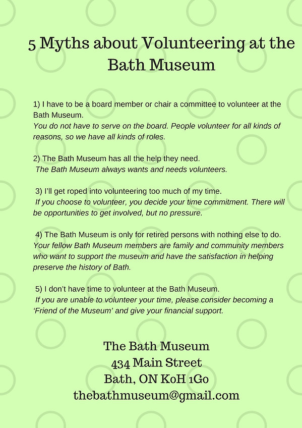 5 Myths about volunteering at the Bath M