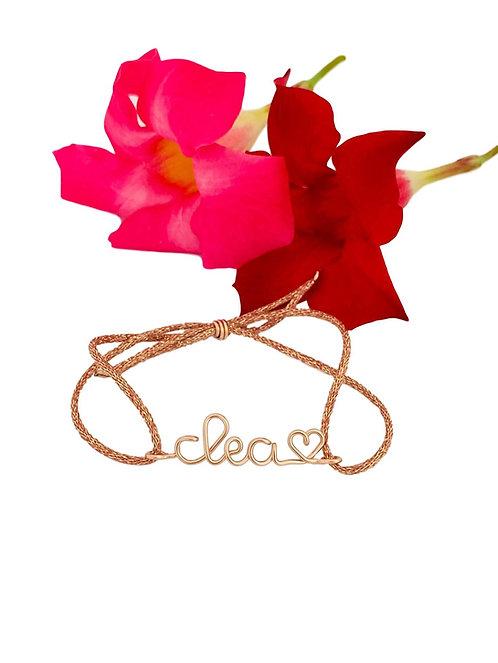 Bracelets personnalisés jusqu'à 6 caractères