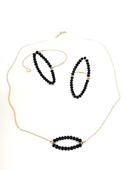 Collier MARQUISE noire