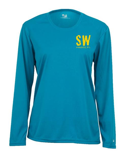 Electric Blue  Badger - B-Core Women's Long Sleeve T-Shirt