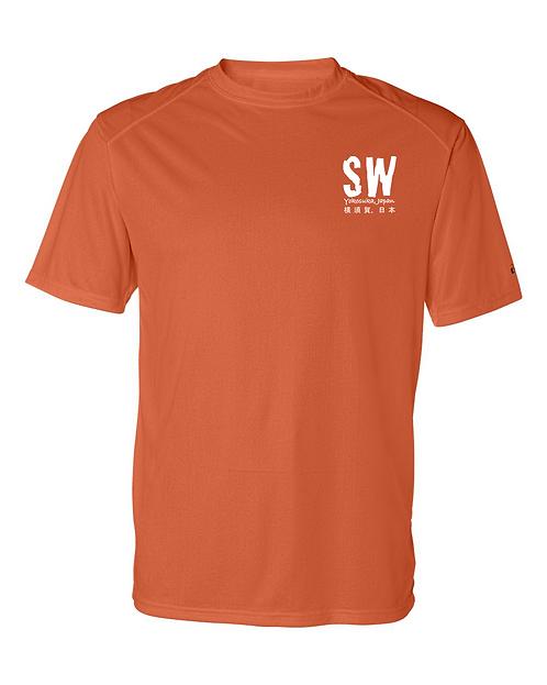 Burnt Orange Badger - B-Core Sport Shoulders T-Shirt