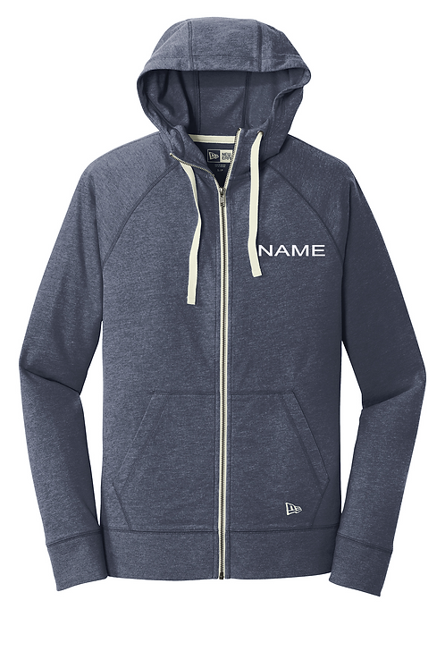 Navy heather New Era® Sueded Cotton Blend Full-Zip Hoodie