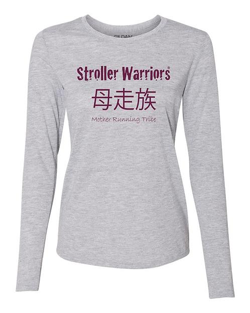 Sport gray Ladies' Performance® 5 oz. Long-Sleeve T-Shirt