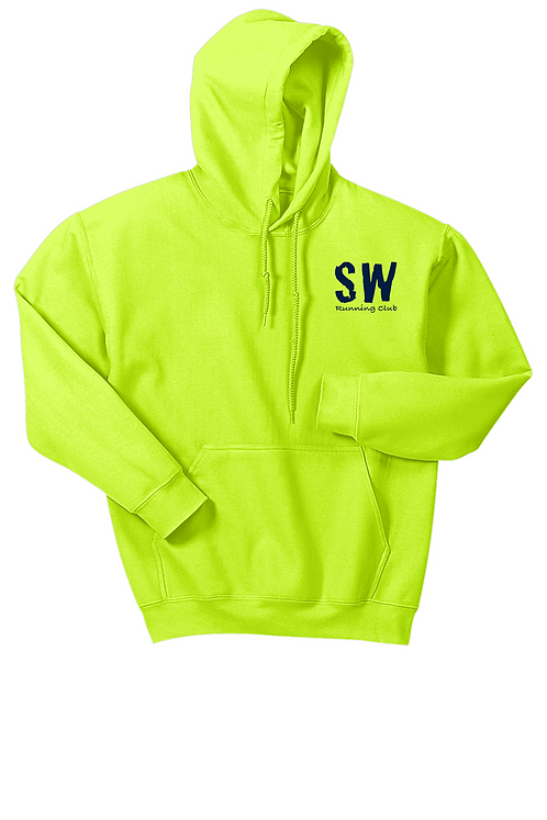 Safety Yellow Gildan Heavy Blend Hooded Sweatshirt