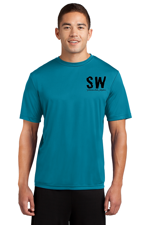 Tropic Blue Mens Sport Tek Tech PosiCharge Competitor Tee