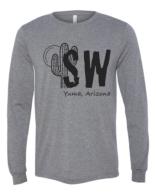 Grey Bella + Canvas - Long Sleeve Jersey Tee
