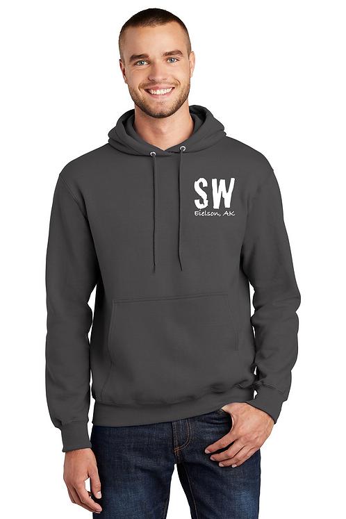 Charcoal Port & Company Essential Fleece Pullover Hooded Sweatshirt