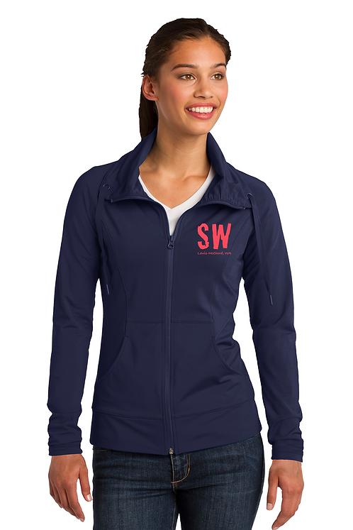 Navy blue Sport-Tek Ladies Sport-Wick Stretch Full-Zip Jacket