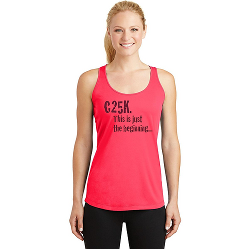 Hot Coral Sport-Tek® Ladies PosiCharge® Competitor™ Racerback