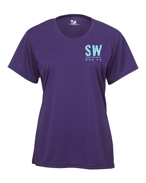 Purple Badger - B-Core Women's Crewneck T-Shirt