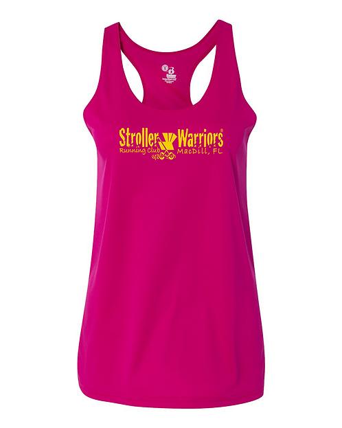 Hot pink Badger B-Core Women's Racerback Tank Top
