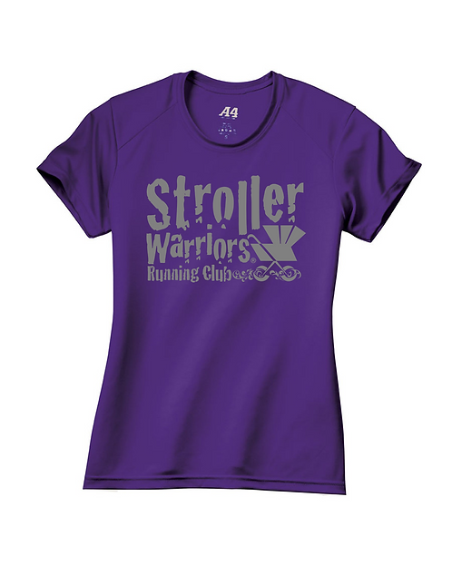Purple A4 Ladies' Short-Sleeve Cooling Performance Crew