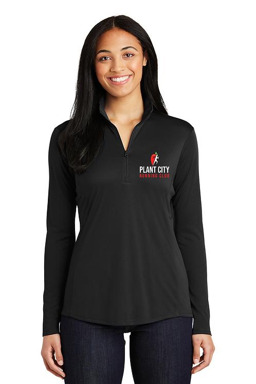 Black Sport-Tek® Ladies PosiCharge® Competitor™ 1/4-Zip Pullove