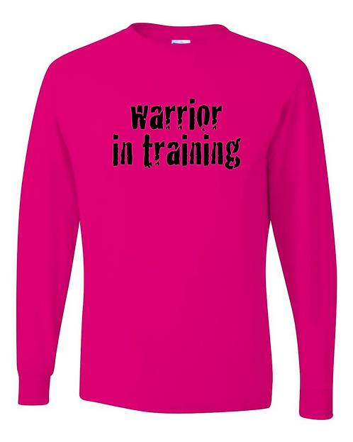 Neon pink Jerzees - Dri-Power® Youth Long Sleeve
