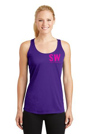 Ladies Sport Tek Sleeveless PosiCharge Competitor Racerback Tank Purple