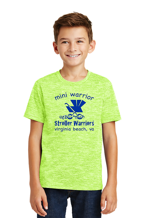 Lime Shock Electric Sport-Tek® Youth PosiCharge® Electric Heather Tee