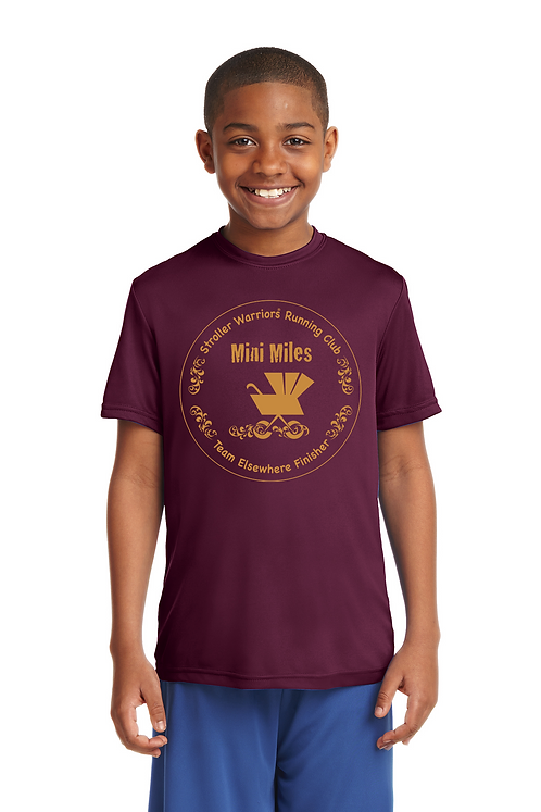 Maroon Sport-Tek® Youth PosiCharge®Competitor Tee