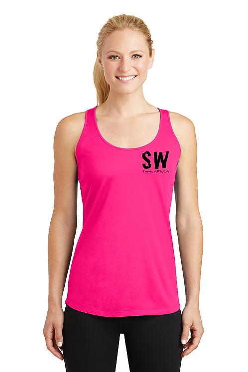 Neon pink Sport-Tek® Ladies PosiCharge® Competitor™ Racerback