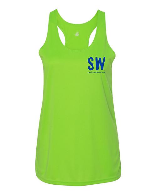 Lime Badger - B-Core Women's Racerback Tank Top