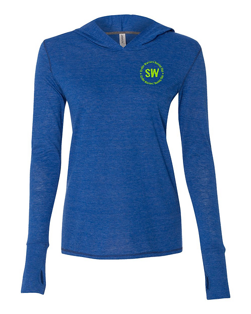 Royal Heather Triblend All Sport Women's Performance Triblend pullover