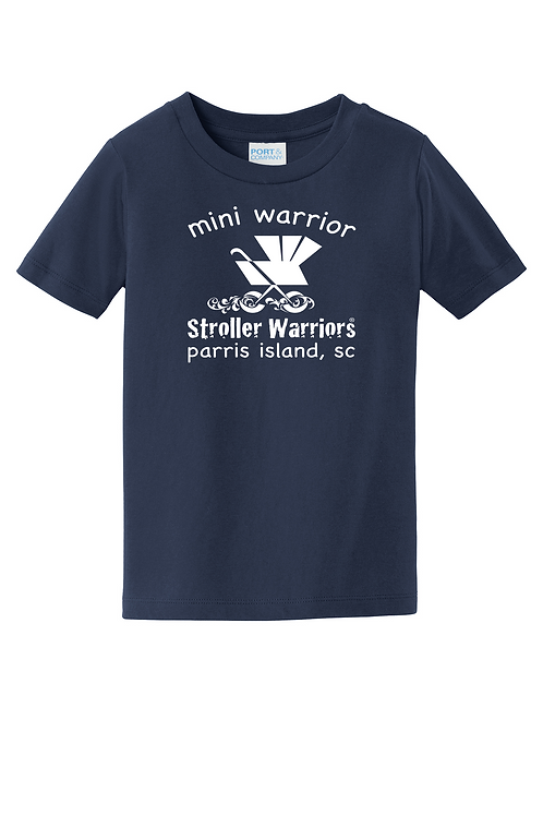 Navy blue Port & Company® Toddler Fan Favorite™ Tee