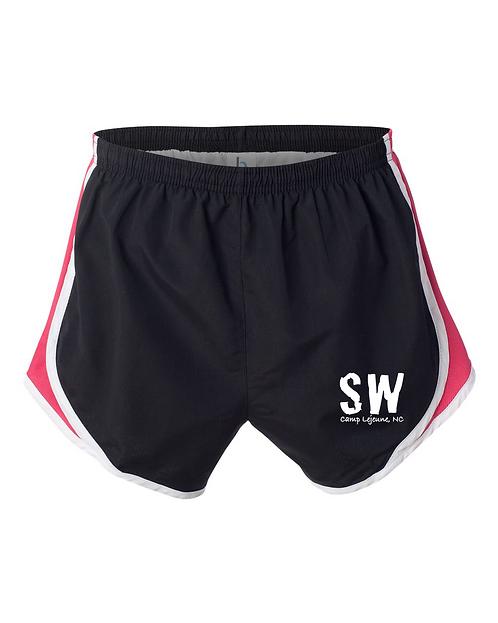 Black / Fuchsia Boxercraft - Women's Velocity Running Shorts